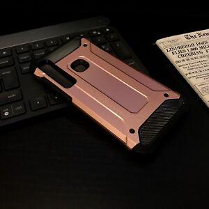 Samsung Galaxy A11 Shockproof   Case Rugged Bumper Metallic GOLD