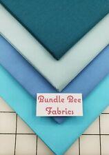 Fat Quarter bundle lot of (4) new NAUTICAL BLUE SOLIDS 100% cotton