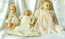 3 lot VINTAGE BABY DOLLS - EFFANBE - DELLA MAY - PLAYMATES