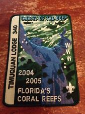 Timuquan Lodge 2004 2005 Year Jacket Patch Jesus Christ of the Deep OA K-206A
