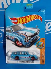 Hot Wheels 2017 Surf's Up Series #277 '71 Datsun Bluebird 500 Wagon Blue w/ 5SPs