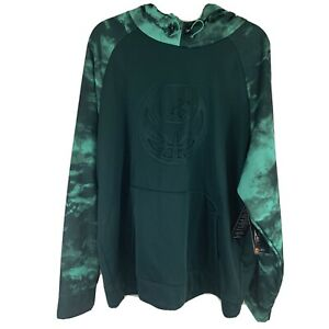 AND1 Men's 2XL Green In The Clouds Fleece Basketball Hoodie NWT