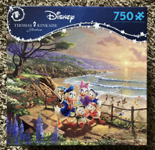 Ceaco Disney Thomas Kinkade Donald And Daisy A Duck Day Afternoon 750 Pc Puzzle