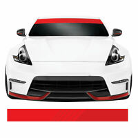 Red Fade JDM Euro DUB Car Sunstrip Windscreen Banner Visor Vinyl Decal Sticker
