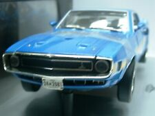 WOW EXTREMELY RARE Shelby Mustang GT500 428 Cobra Jet 1969 H. Blue1:18 RC2 ERTL