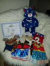Build A Bear New Wonder Woman Cat STUFFED  3 Outfits/2 Sets Shoes/Sound NWT