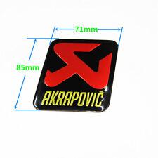 Adesivo AKRAPOVIC 200° alluminio alta temperatura scarico terminale moto scooter