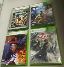 Complete SET Dead Rising 1 and 3 Dead Island and Devil May Cry 4 XBOX 360 Zombie
