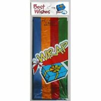 ASSORTED COLOR CELLO WRAP PACK OF 4 BIRTHDAY PARTY SUPPLIES