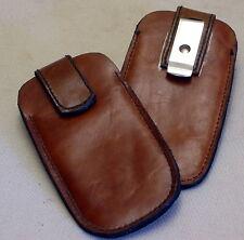 PREMIUM Handyetui LEDER + Gürtelclip NEU Smartphone LEDERETUI Etui FARBE: Cognac