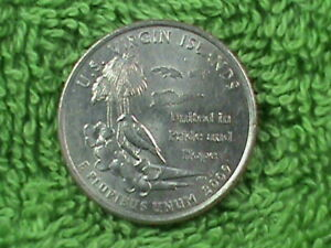 UNITED  STATES   25 Cents   2009  P    UNC   VIRGIN  ISLANDS   .
