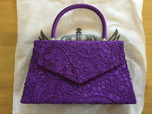 Kendall Lace Womens Ladies Clutch Evening Prom Party Bridal Bag