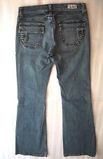 MISS BISOU Exclusive Premium Jeans Medium Wash Low Rise Boot Cut Size 25 29x31