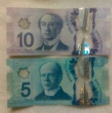 Canadian Banknotes Circulated CANADA 5 Dollar Bills X 2 Total Of 10 Dollars