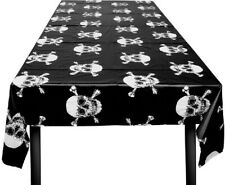Skull And Crossbones Tablecloth 130cm X 180cm Pirate Party Tablecover