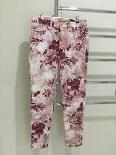 J BRAND Pants - Capri Twisted Pink Seashell Floral Skinny Summer - Size 26