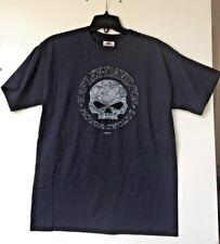 Harley-Davidson Men's Navy Blue Willie Round Skull Beefy T Medium shirt