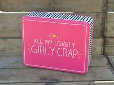 Girly Crap tin Large Happy Jackson Design Large Tin. Storage Tin Biscuit Tin