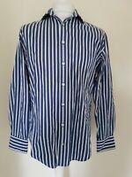 Mens Gant Regent Poplin Shirt Blue Stripe Large 42 Chest e z fit