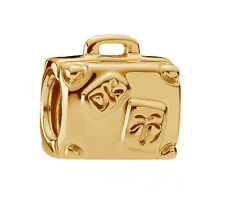 New Genuine Pandora Suitcase Travel Charm Heavily 18K Gold Plated 790362