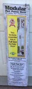 "Ideal PET PATIO DOOR - Adjustable - White - Small Flap 5"" x 7"" - Unused Open Box"