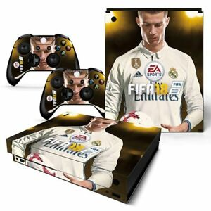 Xbox One X Skin Vinyl Design Folie Aufkleber Schutz Sticker - FIFA 18 - Ronaldo