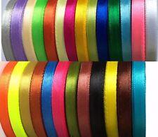 Satin Fabric Ribbon Trim Craft Sew Bride Wedding DIY 6 mm/ 10 mm / 24 mm / 58 mm