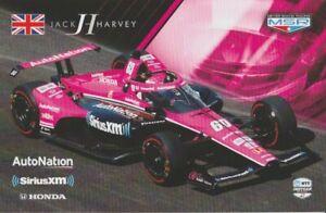 2021 Jack Harvey SiriusXM Honda Dallara Indy Car Hero Card
