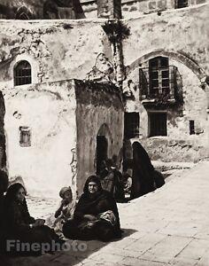 1925 JERUSALEM Abyssinian Women Children ISRAEL Palestine Religious Photo Art