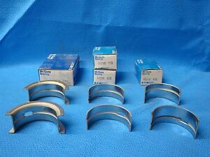 1961 - 1965 Nash Rambler Hudson AMC 172.6 184 195.6 Passenger Main Bearings Std