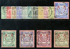 Zanzibar 1904 KEVII set complete very fine used. SG 210-224. Sc 79-93.