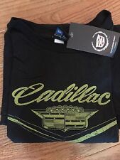 LADIES XL NWT Official Cadillac Short Sleeve T-shirt Black Size XL