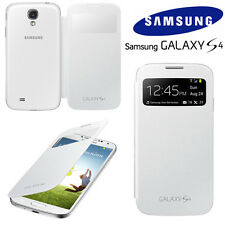 ORIGINALE Samsung Custodia FLIP S VIEW Galaxy S4 GT I9505 mobile COVER TELEFONO CELLULARE NUOVO