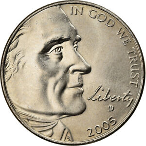 [#370112] Coin, United States, Half Dime, 2005, U.S. Mint, MS, Copper-nickel
