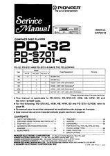 Service Manual-Anleitung für Pioneer PD-S701,PD-32