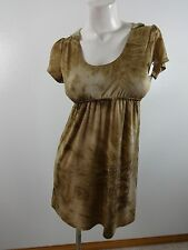 VINTAGE GIRL WOMENS BROWN LACE BACK POLYESTER SPANDEX DRESS SIZE M