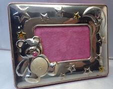 Cornice portafoto  in argento 17x13 cm rosa per bambina