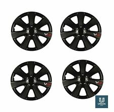 "Wheel Trim Cover Chromia 14"" To Fit Seat Alhambra  Black Carbon Set Of 4"