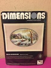 Dimensions Counted Cross Stitch Craft Kit 3785 Winter Wonderland