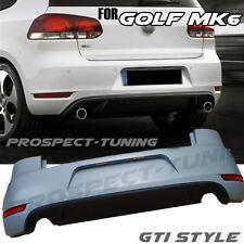 NEW VW GOLF MK6 GTI STYLE REAR BUMPER & DIFFUSER PP ABS VOLKSWAGEN