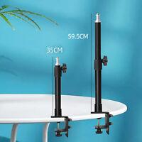 Adjustable Table Desk Mount Clamp for DSLR Camera Ring Light Camcorder, Black