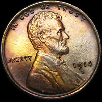 1914-D Lincoln Cent Wheat Penny ---   GEM BU++ Details --- #L983