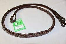 "Ovation American Leather Laced English Reins 66"" Long Australian Nut Color"