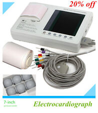 12-lead Digital 3-channel Electrocardiograph ECG/EKG Machine +interpretation