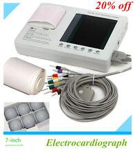 12-lead Digital 3-channel Electrocardiograph ECG/EKG Machine +interpretation