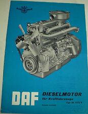 DAF Dieselmotor per i veicoli tipo dl 575 V licenza Leyland SALES BROCHURE