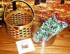 Longaberger 2003 Christmas Caroling Basket COMBO Red & Green Accent Weave New