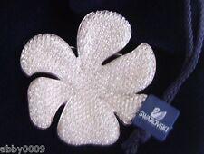 Signed Swarovski Large Pave Flower Brooch Pin