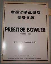 ORIGINAL CHICAGO COIN PRESTIGE BOWLER PARTS CATALOG