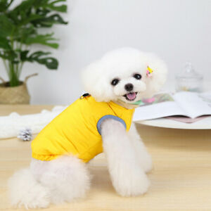 Winter Warm Fleece Pet Dog Jacket Vest Clothes Puppy Cat Vest Outfit with D-ring